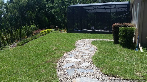 flagstone walkways design ideas and their landscape impact